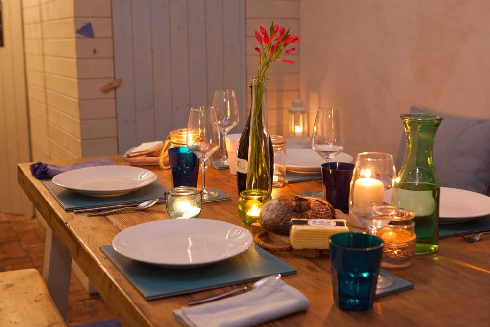 Dinner at the Old Cornstore holiday Cottage in St Agnes